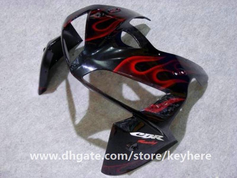 Kit carena iniezione 7 regali Honda CBR600RR 2005 2006 CBR 600RR 05 06 Carenature F5 G5h nuove fiamme rosse in carrozzeria nera