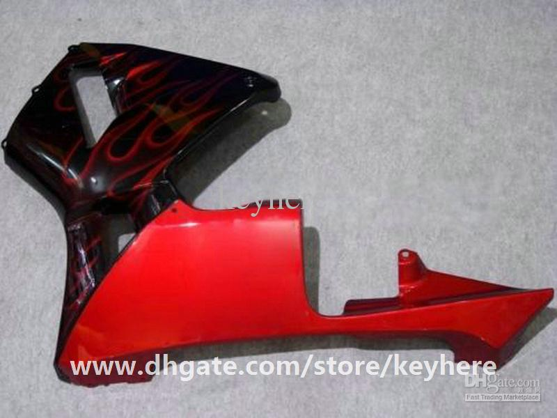 Kit de carénage injection gratuit 7 cadeaux pour Honda CBR600RR 2005 2006 CBR 600RR 05 06 F5 carénages G5h nouvelles flammes rouges en carrosserie de moto noir