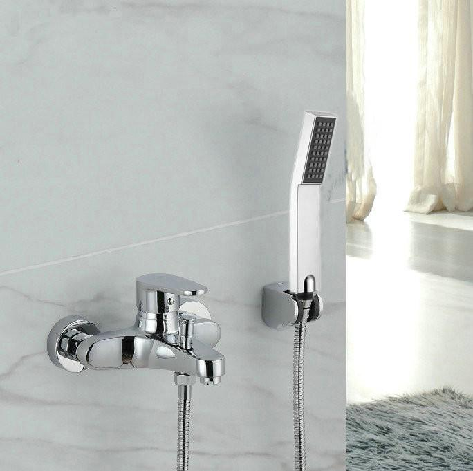 Good 2018 Wall Mounted With Hand Shower Chrome Bathroom Good Mixer .