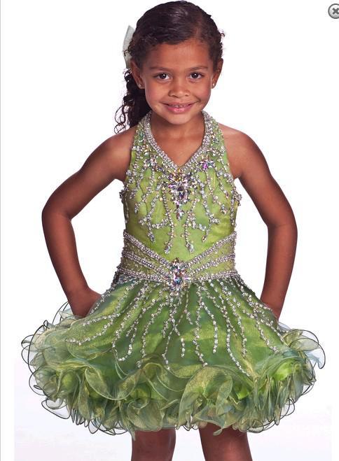 Flor bonita infantil desgaste borda saia curta menina pageant vestido de grânulos de cristal pendurado no pescoço flor personalização de roupas para crianças