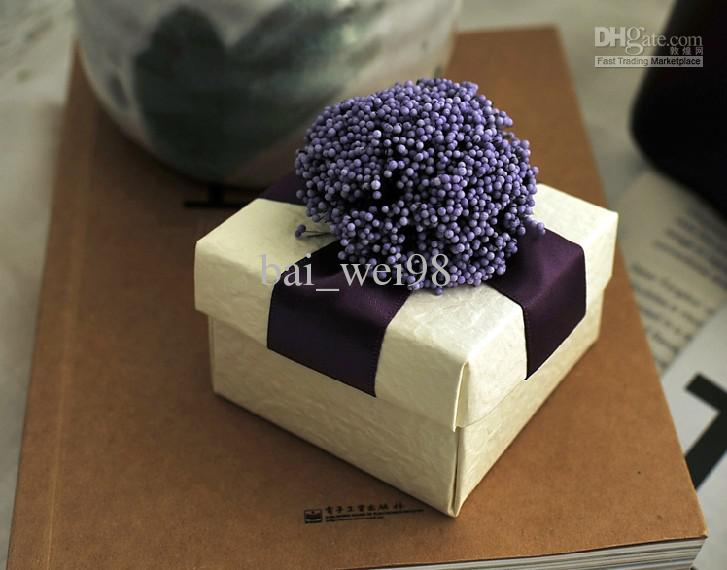 latest wedding cake boxes new arrival purple lavender wedding favors box 5414
