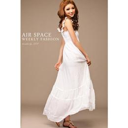 seide lange abendröcke Rabatt Hot Fashion Damen Maxi Kleid elegante Frauen Seidenkleid Abendkleid Bohemian langes Kleid mit Schulter-Riemen Faltenrock