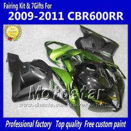 $enCountryForm.capitalKeyWord Australia - 7Gifts injection fairings body kit for HONDA CBR600RR F5 2009 2010 2011 CBR 600 RR 09 10 11 green black custom fairing set