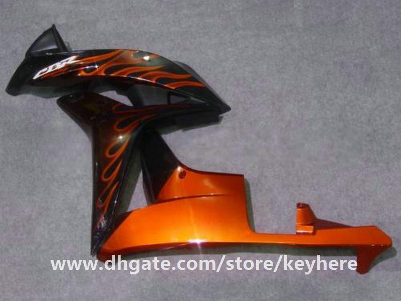 Kit de carénage d'injection gratuit 7 cadeaux pour Honda CBR600RR 2007 2008 CBR 600RR 07 08 F5 CBR-600RR carénage G6f rouge flammes carrosserie moto