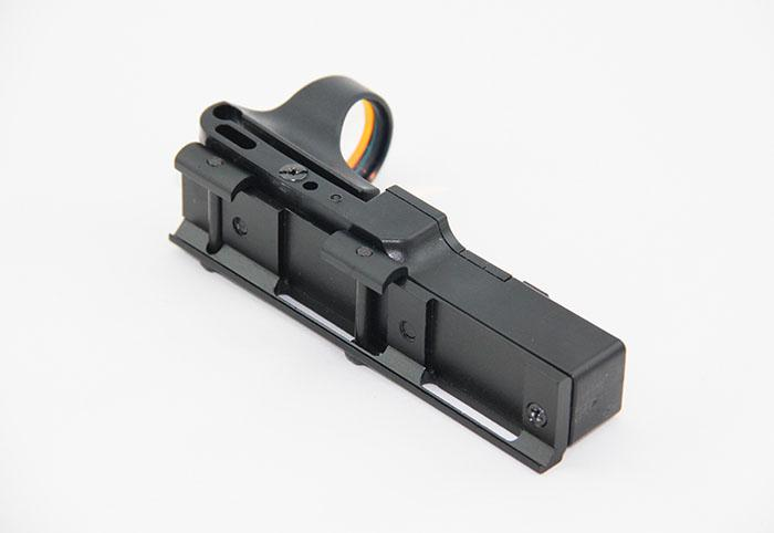 Tactical C-More Spoorweg Reflex Sight 8 Moa Red Dot met Integral Picatinny Mount Polymeer Matte