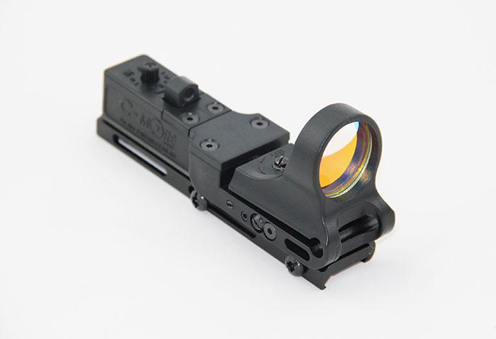 Taktische C-MORE Bahn Reflexvisier 8 MOA Red Dot mit Integral Picatinny Mount Polymer Matte