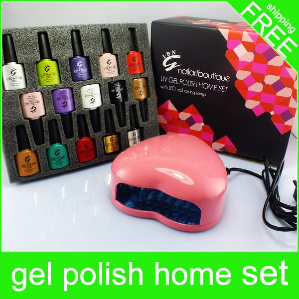 Led Nail Lamp +Nail Art Boutique Set Uv Led Gel Nails Polish Kit / 1 ...