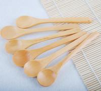Wholesale Wooden Salt Spoons Wholesale - spoon wooden spoon  children's spoon salt spoon coffee spoon baby spoons
