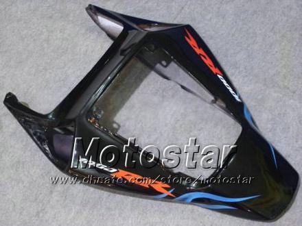 Fiamma blu in nero Stampo iniezione ABS Carene HONDA CBR1000RR 2004 2005 CBR1000 RR CBR 1000RR 04 05 carenatura carrozzeria kk94
