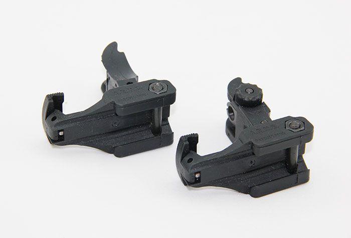 A.r.m.S. # 71L Arms Polymer Voorkant Achterzijde Flip-up Sight Set Black