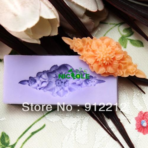 Free shipping Mini F0167- silicone molds resin flower polymer clay candy chocolate mold silicon molds cake decorating