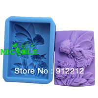 Wholesale Eco Silicone Candle Molds - Free shipping 3D silicone molds DIY summer Wizard Soap candle mold soap mold silicone Chocolate molds