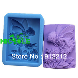 Wholesale Silicone Candle Mold 3d - Free shipping 3D silicone molds DIY summer Wizard Soap candle mold soap mold silicone Chocolate molds