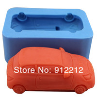 Wholesale Soft Silicon Mold For Soap - 3D Soap Molds Car model Soft Silicon mold DIY Mould For pudding cookie Jelly Cake cookie handmade soap