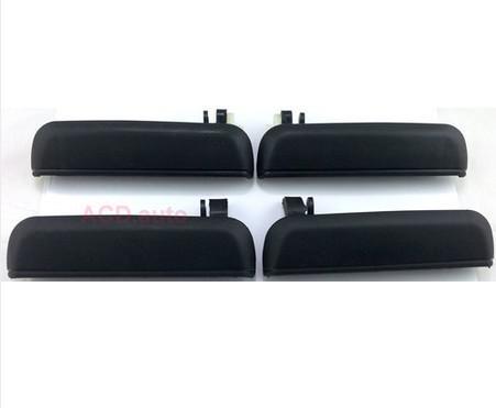 Black 4pcs Outside Inside Rear Left Right Door Handles For 95-98 Toyota Tercel