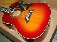 ingrosso kit chitarra elettrica solido-NEW Cherry burst Chitarra acustica acustica con strumenti musicali EQ che iniziano gli studenti Chitarra Elettrica Regali di Natale