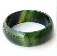 pulseira de jade verde natural venda por atacado-jade verde natural, charme jadeite jade bangle