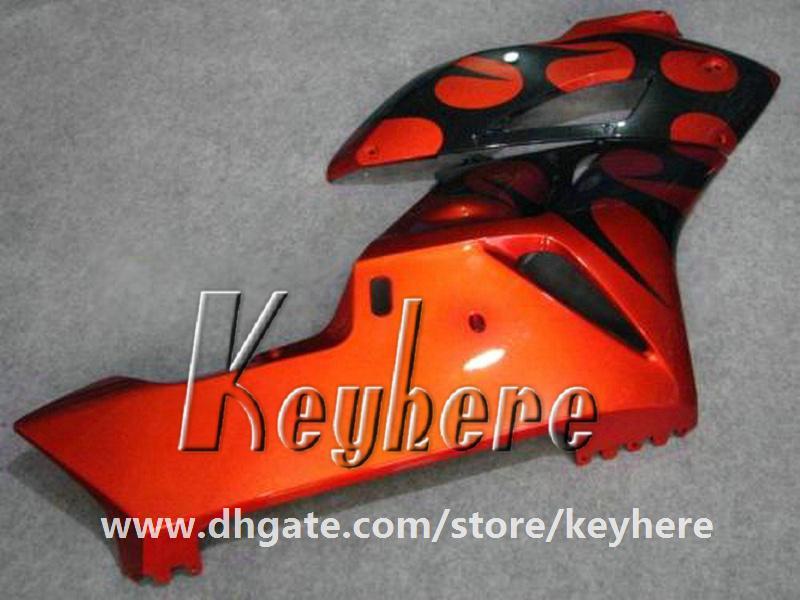 Kit de carénage d'injection gratuit 7 cadeaux pour Honda CBR1000RR 2004 2005 CBR 1000RR 04 05 carénages CBR-1000RR G6e corps de moto noir flammes rouges
