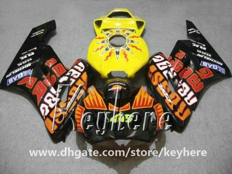 Livre 7 presentes injeção carenagem kit para Honda CBR1000RR 2004 2005 CBR 1000RR 04 05 CBR-1000RR carenagens G1i laranja preto 46 peças da motocicleta
