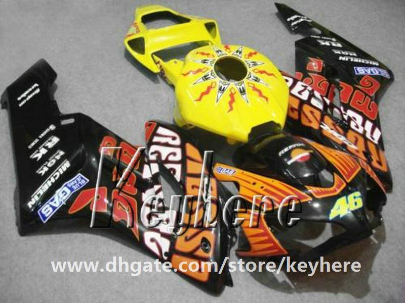 Kit de carenado de inyección gratuito 7 regalos para Honda CBR1000RR 2004 2005 CBR 1000RR 04 05 CBR-1000RR carenados G1i naranja negro 46 piezas de la motocicleta