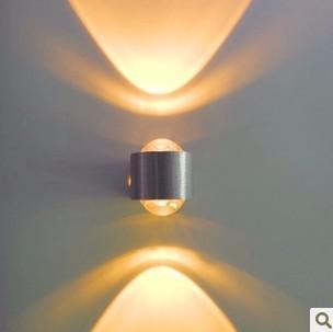 Frete Grátis Alta Poder 2W LED Lâmpada de Parede Quente Branco Moderno Minimalista Quarto Living Sala Iluminação