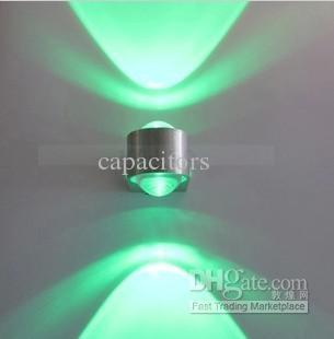 Gratis verzending High Power 2W LED Wandlamp Warm Wit Moderne Minimalistische Slaapkamer Woonkamerverlichting