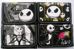 Wholesale Nightmare Before Christmas Cartoon - 24pcs Mix Models Nightmare Before Christmas KIDS Cartoon Wallet Purses for Kids Gift