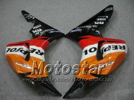7 Geschenken Spuitgieten Motorfiets Kosten voor Honda CBR1000RR 06 07 CBR 1000RR 2006 2007 Orange Repsol Falings Set LL38