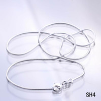 colares de 16 polegadas para mulheres venda por atacado-925 de Prata Esterlina 16 polegada Colar de Cadeia Sólida Talão Mulheres Menina Beleza Cobra Colar de Colar com Fecho Da Lagosta não Pingente SH4-16 polegada