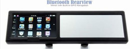 Wholesale Honda 4g - 4.3 Inch Bluetooth Rearview Mirror GPS Navigator With Free Maps DHL FREE