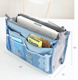 Wholesale handbag organiser inserts - Women man Travel Insert Handbag Organiser Purse Large Liner Organizer Tidy Bag Duffel Bags