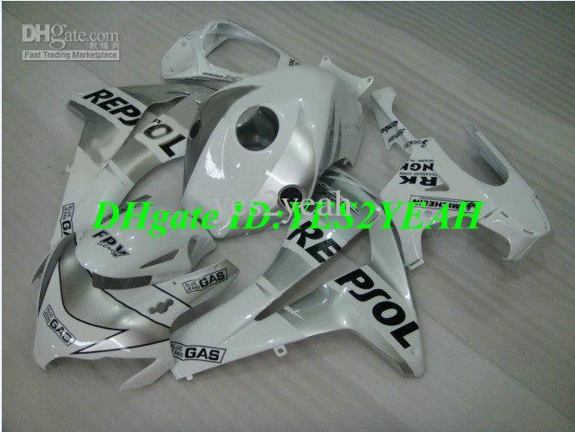 Injectie Keuken Body Kit voor 08 09 HONDA CBR1000RR CBR 1000 RR 2008 2009 CBR 1000RR WHITE REPSOL-VALEN ONDERDELEN + GENEFFEN HM20