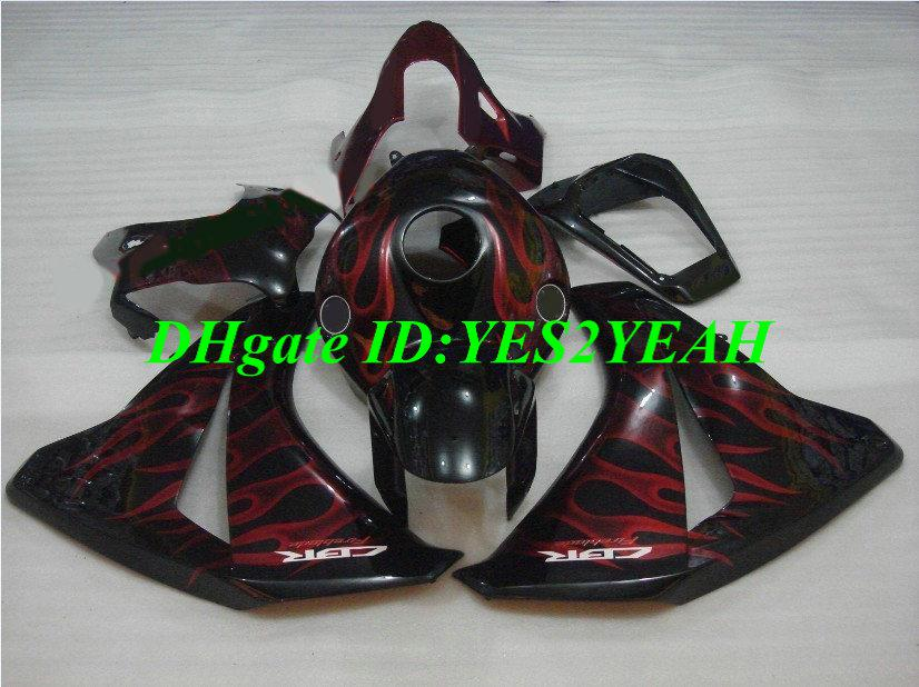 Iniezione Fiamme rosse Carenatura Kit carrozzeria Honda CBR1000RR 08 09 CBR 1000 RR 2008 2009 cbr 1000rr Carene ricambi + regali HM25