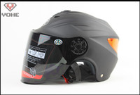 Wholesale Matte White Cars - summer half helmet Battery car helmets Matte black YOHE 339 knight Racing reflective patches, All lining unpick and wash