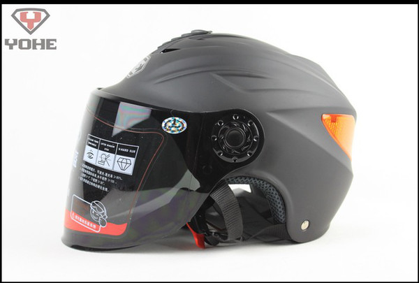 summer half helmet Battery car helmets Matte black YOHE 339 knight Racing reflective patches, All lining unpick and wash