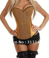 espartilho de lantejoulas preto venda por atacado-Plus size Lantejoulas Burlesque Overbust Espartilho sexy Intimates emagrecimento roupas íntimas mulheres roupas preto vermelho amarelo azul cor Q5206