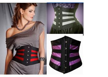 2018 black with red purple white multi color womens waist cincher