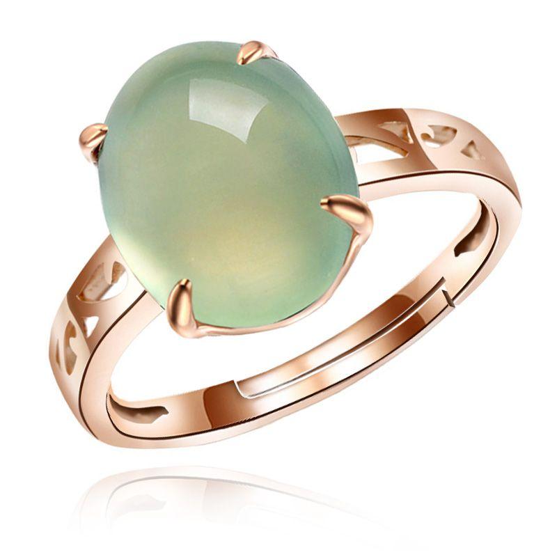 Doyle Blue Rose Gold Ring Korean Female Silver Gemstone Rings Live