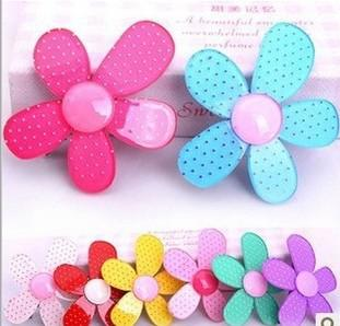 Mädchen Haarspange Clips Haarschmuck Kopfschmuck Haarnadel Ornamente Sonne Blume Acryl 100 teile / los
