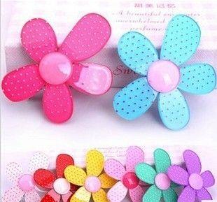 Girls Hair Clip Clips Hair Ornaments Headdress Hairpin Ornaments Sun Flower Acrylic