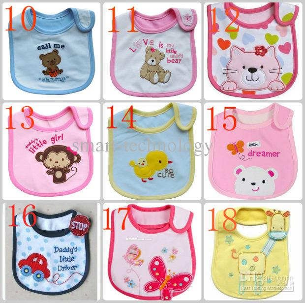Baby Bibs Baby bib Toalhas de saliva infantil Baby Bib impermeável Baby wear
