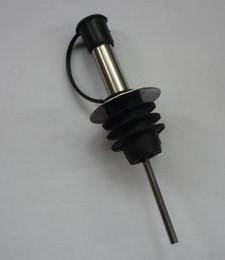 Wholesale Oil Bottle Stoppers - oil pourer stainless steel bottle stopper,wine pourer