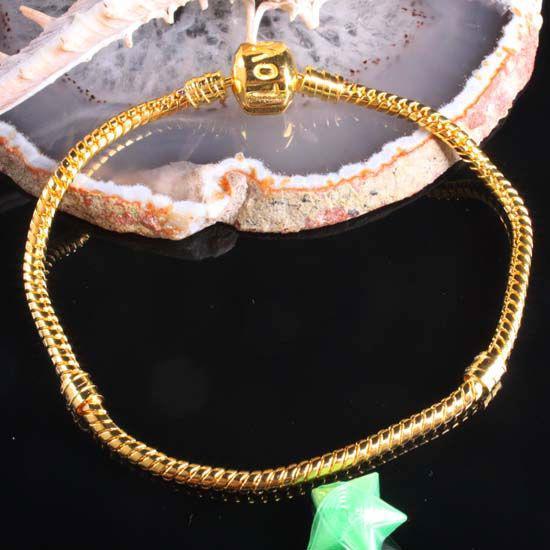 Atacado - frete grátis HOT DIY / banhado a ouro cobra corrente da Bracelet Fit Europeu Beads / Moda Apreciação Jóias