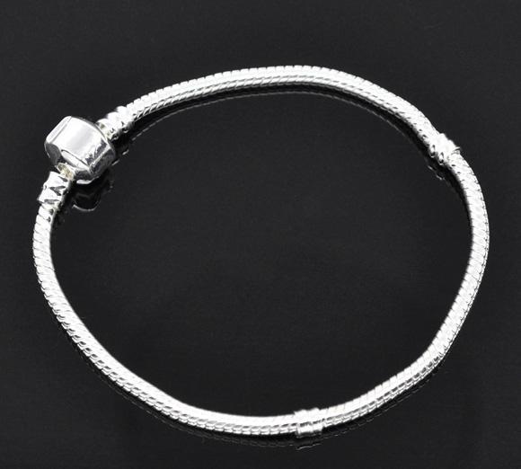 CALIENTE libre del envío DIY / plateado plata de la serpiente de la cadena de joyas cupieron la pulsera europea / moda - al por mayor