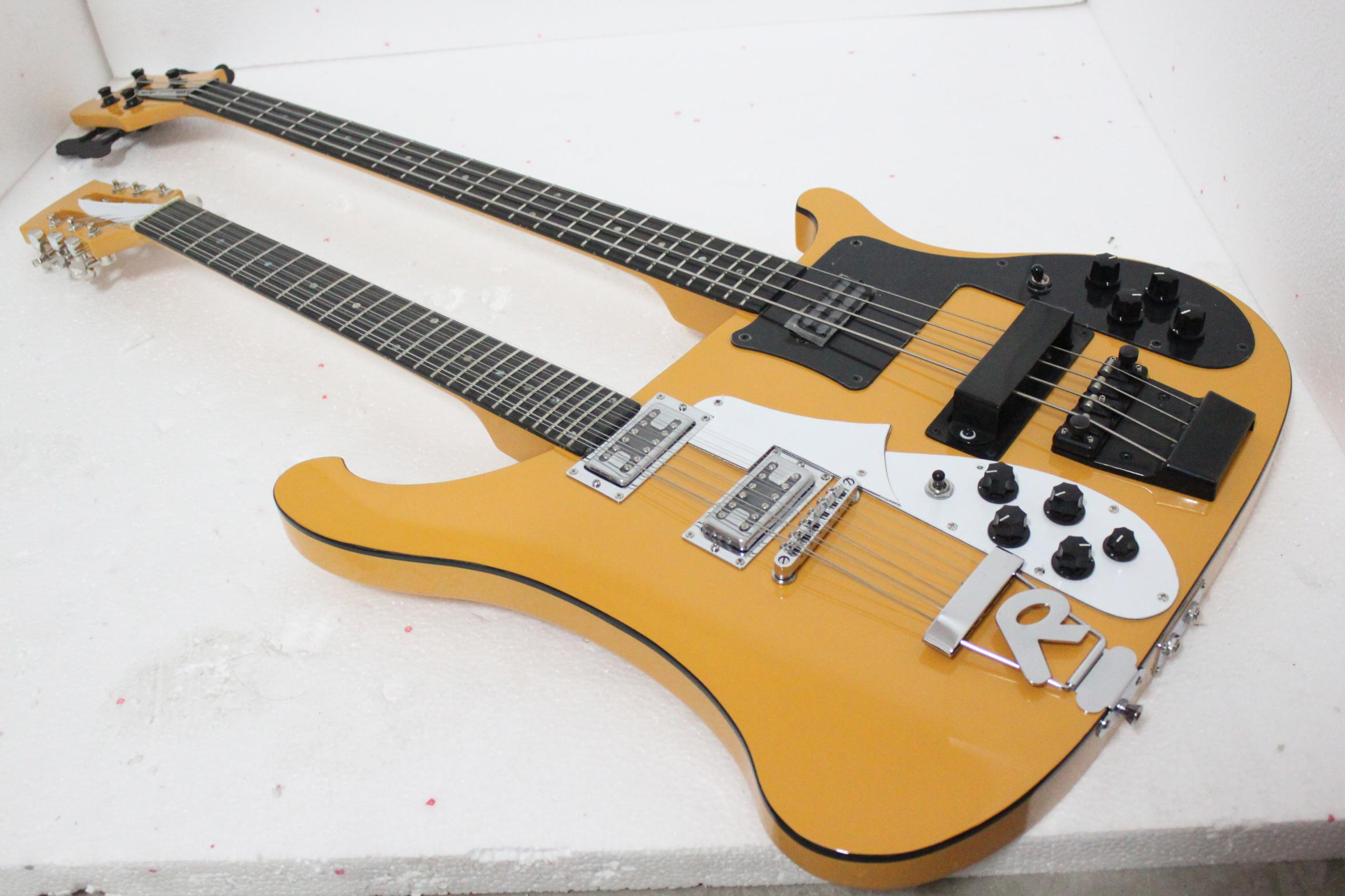 wholesale double neck 4 strings electric beth bass guitar and 12 strings electric guitar. Black Bedroom Furniture Sets. Home Design Ideas