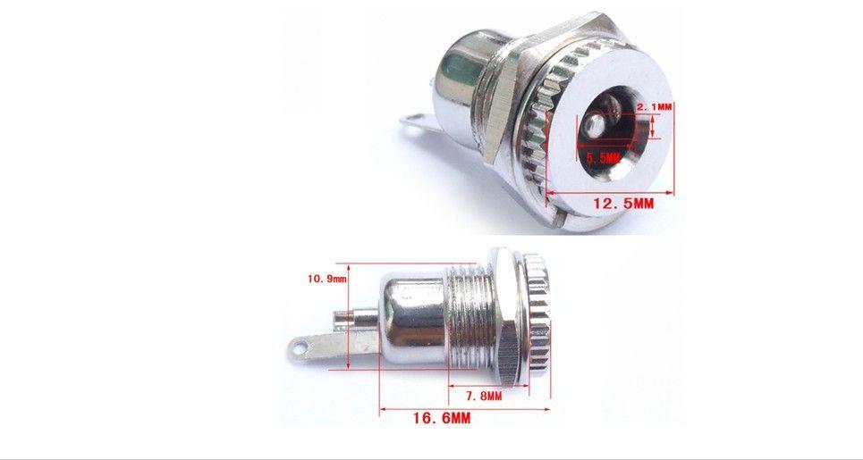automotive power socket 2017 high quality 55mm x 21mm dc power jack socket female panel