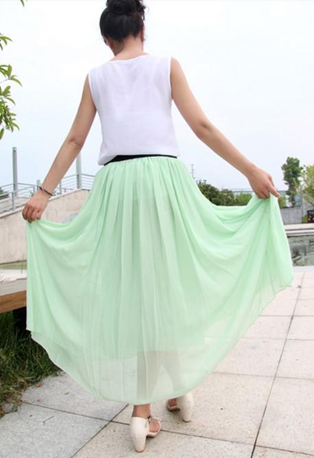 2013 nuevo vestido de gasa bohemio retro europeo y americano maxi falda trapeando el piso falda falda grande playa