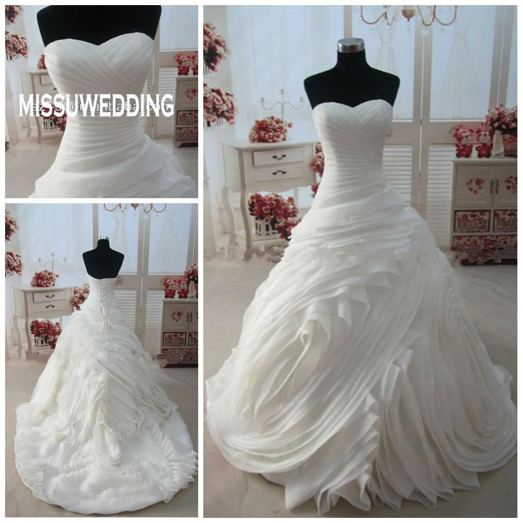 Luxurious Wedding Gowns Hot Sale White Wedding Dress Sweetheart ...
