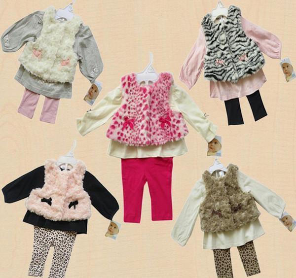 3 adet set bebek Ceket / Yelek T-shirt, Tozluk Pantolon Üstleri gömlek kıyafet 12 takım / grup # 2931