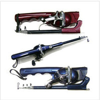 Wholesale Sea Pole - New Arrival,GW-DL Convenient Integration portable 131CM sea fishing rod,Fold fishing pole,includeing fishing reel top sale +gift free ship